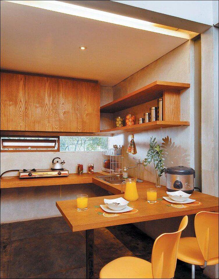 Foto Dapur Minimalis Dan Meja Makan 1 Ruang
